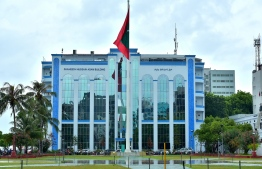 Police headquarters Shaheed Hussain Adam Building in the capital Male. PHOTO: MIHAARU