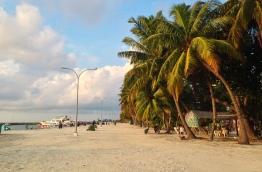 A photograph of Maafushi, Kaafu Atoll.