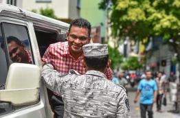 Ex-defence minister Nazim lead to Supreme Court. PHOTO: NISHAN ALI / MIHAARU