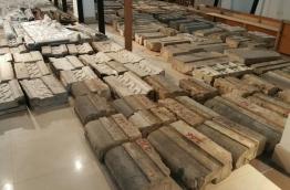 The disassembled pieces of Kalhu Vakaru Miskiyy