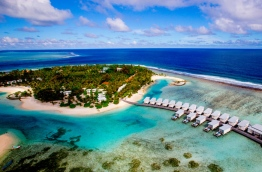 An aerial view of Holiday Inn Resort Kandooma Maldives. PHOTO: HOLIDAY INN KANDOOMA