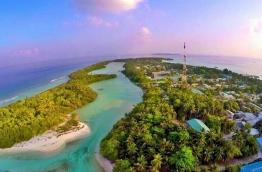 An aerial photograph of Funadhoo, Shaviyani Atoll. PHOTO: MIHAARU FILES