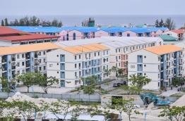 Housing units built on reclaimed suburb Hulhumale'. PHOTO: HUSSAIN WAHEED / MIHAARU