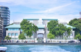 The President's Office. PHOTO: HUSSAIN WAHEED / MIHAARU