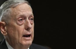 Defense Secretary Jim Mattis testifies on Capitol Hill in Washington, Tuesday, June 13, 2017, before the Senate Armed Services Committee hearing on the defense department's budget. (AP Photo/Jacquelyn Martin)