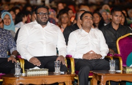 Former Presdent Abdulla Yameen Abdul Gayoom and former Vice President Ahmed Adeeb. PHOTO: PRESIDENTS OFFICE