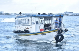 A ferry operated by Maldives Transport and Contracting Company (MTCC). PHOTO: HUSSAIN WAHEED