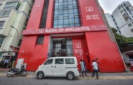 Bank of Maldives (BML) branch on Boduthakurufaanu Magu. PHOTO: HUSSAIN WAHEED/ MIHAARU