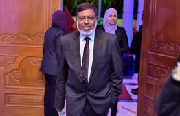 Dinner event held on September 19, 2017 at the Supreme Court by then-Chief Justice Abdulla Saeed, which was attended by leaders across the judiciary and legal field including Judges based in Male'. Pictured above is event attendee, the late former Supreme Court Justice, Mujuthaz Fahmy, who passed away during COVID19 treatment in January 2021. PHOTO: NISHAN ALI / MIHAARU