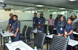 Employees of Maldives Immigration. PHOTO: HUSSAIN WAHEED/ MIHAARU