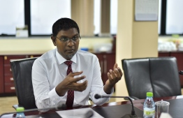 Governor of Maldives Monetary Authority. PHOTO: HUSSAIN WAHEED/MIHAARU