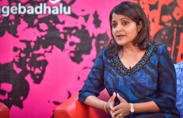Yumna Maumoon during a press conference