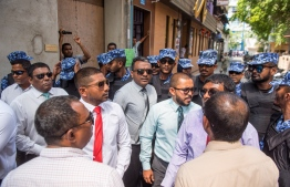 OPPOSITION PARLIAMENT MEMBERS PROTEST NEAR PARLIAMENT