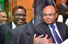 Right to left: Chief Justice Abdulla Saeed and Judge Ali Hameed