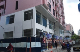 Housing complex being constructed in the capital Male. PHOTO/MIHAARU