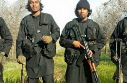 Some Maldivian Jihadists pictured in Syria.