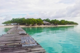 Anbaraa island in Vaavu Atoll which is being developed as a resort by a Sri Lankan firm. PHOTO/RILWAN SAEED