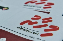 The first edition of Mihaaru newspaper. A court verdict banning its staff from media has threatened its closure just two months after its launch. MIHARRU FILE PHOTO