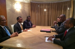Former president Nasheed and his aides meet UN officials in the UK.
