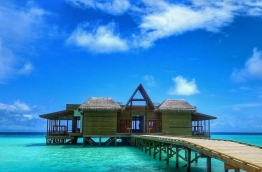 "Named ""OZEN by Atmosphere at Maadhoo"", the resort is a 35-minute boat ride away from Male. It features 90 villas, 41 of which are beach villas and the other 49 water villas over a large crystal clear lagoon, a characteristic often preferred by tourists."