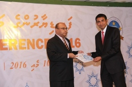 Judge Abdul Baaree Yoosuf (R) has been appointed as the chief criminal judge by JSC on Wednesday. FILE PHOTO/JUDICIAL ADMINISTRATION