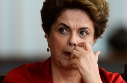 The final phase of the impeachment process against Rousseff will begin in the Brazilian senate on August 25 and the president will speak for the plenary August 29. / AFP PHOTO / ANDRESSA ANHOLETE