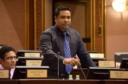 Maldives Development Alliance MP Mohamed Ismail pictured during a parliament sitting. FILE PHOTO/PARLIAMENT SECRETARIAT