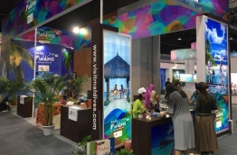 The Maldives' stall at Sichuan International Travel Expo in China. PHOTO/MMPRC