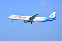 A Maldivian aircraft pictured in flight. PHOTO/MALDIVIAN
