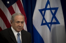 Israeli Prime Minister Benjamin Netanyahu look on during a bilateral meeting with US President Barack Obama(not seen) in New York on September 21, 2016. / AFP PHOTO / JIM WATSON