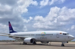 Mega Maldives' latest addition to its fleet: the Boeing 737-800 aircraft. PHOTO/MEGA MALDIVES