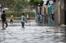 Hurricane Matthew slammed into Haiti, triggering floods and forcing thousands to flee the path of a storm that has already claimed three lives in the poorest country in the Americas. / AFP PHOTO / HECTOR RETAMAL