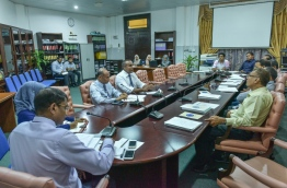A sit-down of the parliamentary government oversight committee. MIHAARU FILE PHOTO/NISHAN ALI