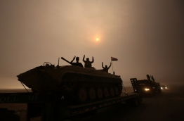 Federal forces and Kurdish peshmerga fighters were moving forward in several areas, AFP correspondents on various fronts said, but the jihadists were hitting back with shelling, sniper fire, suicide car bombs and booby traps. / AFP PHOTO / AHMAD AL-RUBAYE