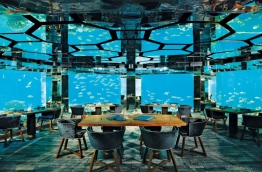The underwater restaurant at Anantara Kihavah Villas. PHOTO/ANANTARA