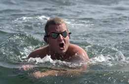 As a boy, Ben Hooper wanted to join the British explorers he idolised for surmounting the impossible, and now as he prepares to swim across the Atlantic, he hopes to equal their daring feats -- and survive. / AFP PHOTO / SEYLLOU