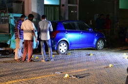 Police activities at the scene of a gang violence. FILE PHOTO: MOHAMED SHARUHAAN/MIHAARU