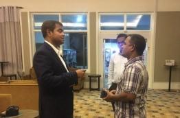 Minister Thoriq at INIA PHOTO: Mihaaru