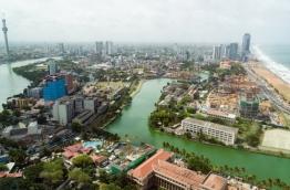 Aerial view of Sri Lankan capital Colombo.