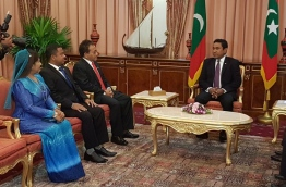 Newly appointed three Ambassadors meeting with President Yameen