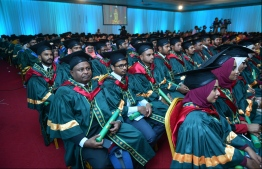 During the graduation ceremony of Maldives Islamic University in April 2018. PHOTO: HUSSAIN WAHEED/MIHAARU