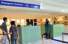 Passengers at the Immigration counter in INIA. PHOTO/IMMIGRATION