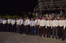 A rally of MOU. PHOTO:Mohamed Sharuhan/Mihaaru
