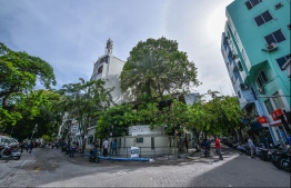 A road in the capital city of Male'. PHOTO: HUSSAIN WAHEED
