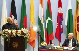 Indian PM Modi speaks at last SAARC Summit. PHOTO/REUTERS