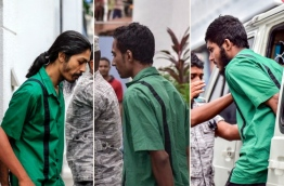 Composite picture of (R-L) Hussain Humam Ahmed, Mohamed Nabeel and Ahmed Murrath, who are on death row. PHOTOS/MIHAARU