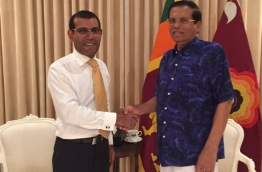 Nasheed meeting with President of Sri Lanka Maithripala Siriseyna PHOTO:Twitter