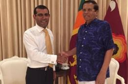 Nasheed meeting with President of Sri Lanka Maithripala Siriseyna PHOTO:Twitter