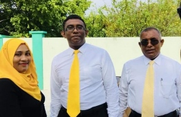 Councilors of Dhidhdhoo posing for a picture. PHOTO: TWITTER