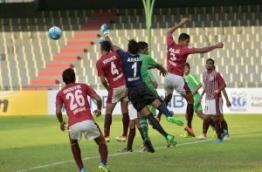 Maziya versus Mohan Bagan in AFC Cup 2016. PHOTO: NISHAN ALI/MIHAARU